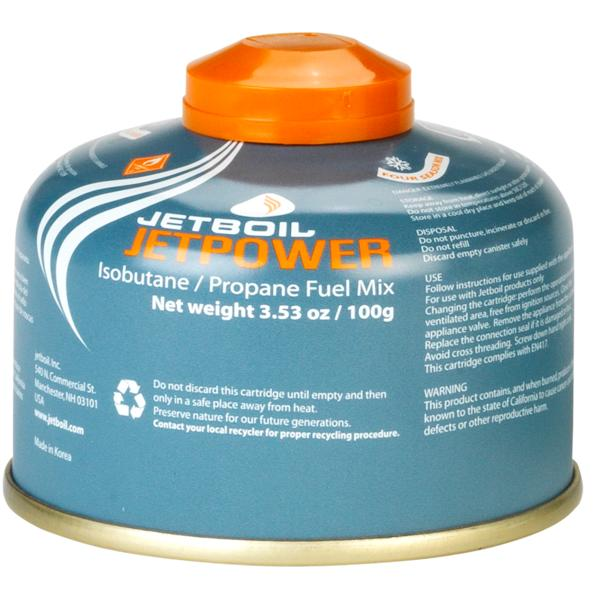 Jetboil Jetpower Gas, threaded canister, 100g
