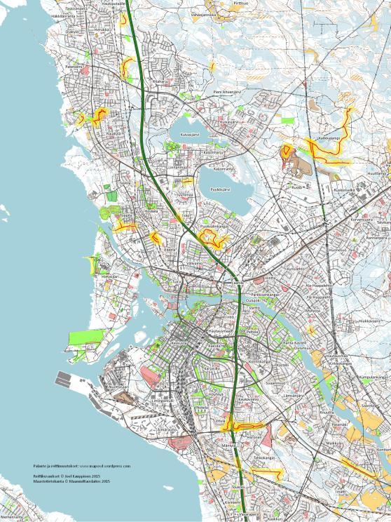 Ydin Oulun Parhaat Maastopyorailypolut Kartta Vedenpitava Shelby