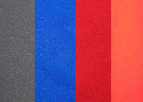 Neoprene 2 mm, 125 x 15 cm Remnant Piece , Visibility Orange / Gray