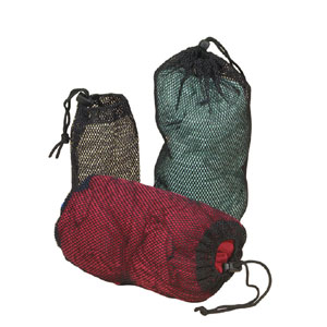 Durable mesh packbags, several sizes