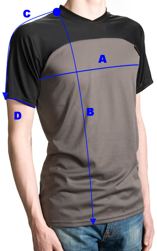 Measure your chest along widest part of breast. Shirt length is measured from highest point between shoulder and neck