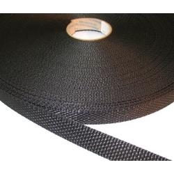 Webbing 25 mm PES Black